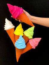 Load image into Gallery viewer, 832241 JUMBO ICE CREAM CONE SQUISHY-slowrise soft-11.25 inch-1 piece