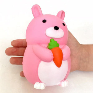 832731 PINK RABBIT SQUISHY-slowe rise-5.25 inch-1 piece