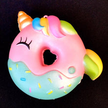 Load image into Gallery viewer, 832931 UNICORN RAINBOW DONUT SQUISHY-slow rise-5.25 inch-1 piece