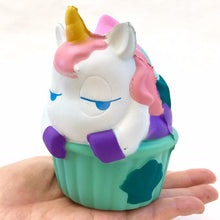 Load image into Gallery viewer, 832951 UNICORN MERMAID CAKE SQUISHY-slow rise-4.5 inch-1 piece