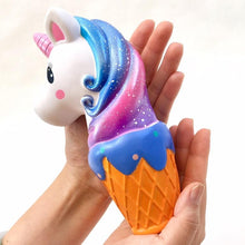 Load image into Gallery viewer, 832961 JUMBO UNICORN ICE CREAM SQUISHY-slow rise-7.5 inch-1 piece