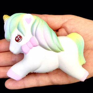 833001 SMALL PASTEL UNICORN SQUISHY-slow rise-4 inch-1 piece