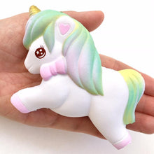 Load image into Gallery viewer, 833001 SMALL PASTEL UNICORN SQUISHY-slow rise-4 inch-1 piece