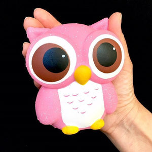 833111 PINK OWL SQUISHY-slow soft-4.25 inch-1 piece