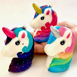 833231 UNICORN HEAD SQUISHY-slow rise-3 inch-1 piece