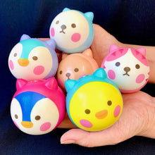 Load image into Gallery viewer, 833241 SQUISHY ANIMAL BALL-slowr ise-2.5 inch-1 piece