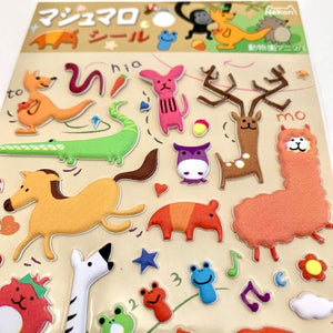 850371 ANIMAL PUFFY STICKER-1 sheet