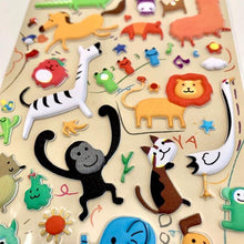 Load image into Gallery viewer, 850371 ANIMAL PUFFY STICKER-1 sheet