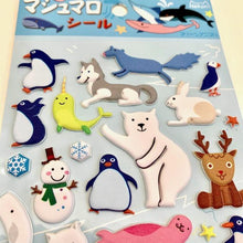 Load image into Gallery viewer, 850401 ARCTIC ANIMAL PUFFY STICKER-1 sheet