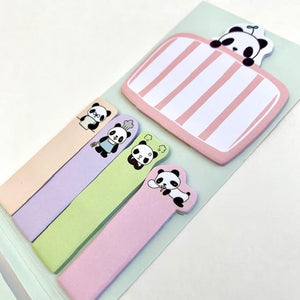 851611 PANDA IN BED STICKY NOTEPAD-1 pad