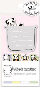 851621 PANDA BATH STICKY NOTEPAD-1 pad