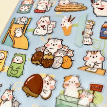 Load image into Gallery viewer, 854981 HAMSTER NEKONI STICKER-1 sheet