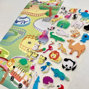 856821 SAFARI PARK PUFFY STICKER-1 sheet