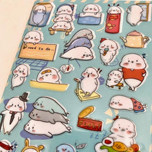 Load image into Gallery viewer, 857651 SEAL NEKONI STICKERS-1 sheet
