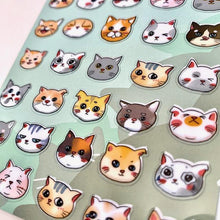 Load image into Gallery viewer, 857831 CAT HEAD STICKERS-1 sheet