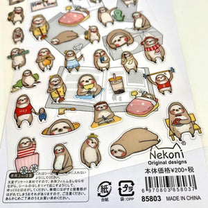858031 Sloth Gel Sticker-1 sheet