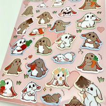 Load image into Gallery viewer, 858071 RABBIT FLAT STICKERS-1 sheet