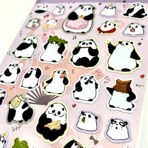 858111 PANDA FLAT STICKERS-1 sheet