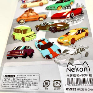 859331 CARS PUFFY STICKERS-1 sheet