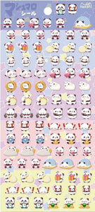 859791 PANDA TINY PUFFY STICKERS-1 sheet