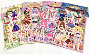 911871 DOLLY DOLLY PUFFY DRESS UP STICKERS-4 assorted sheets