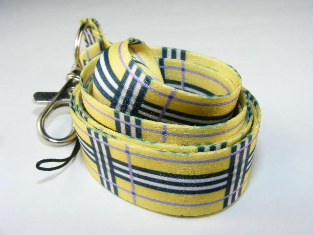 800391 YELLOW STRIPE LANYARD-1 lanyard