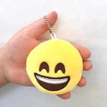 "Load image into Gallery viewer, 66001 EMOJI PLUSH KEYCHAIN 2""-3 inch-30 assorted pieces"