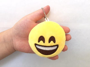 "66001 EMOJI PLUSH KEYCHAIN 2""-3 inch-30 assorted pieces"