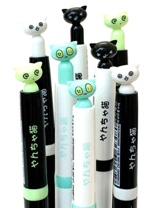 222252 KITTY CAT RETRACTABLE GEL PEN-4 assorted pens