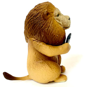 708841 CELL PHONE ANIMAL FIGURINES-5 assorted figurines