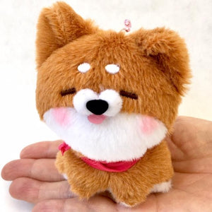 63027 AKITA DOG PLUSH KEY CHARM-8 assorted dogs