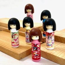 Load image into Gallery viewer, 380037 Iwako Kokeshi Japanese Doll Eraser-Blue-1 eraser