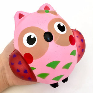 832331 PINK OWL SQUISHY-5 inch-slowrise soft-1 piece