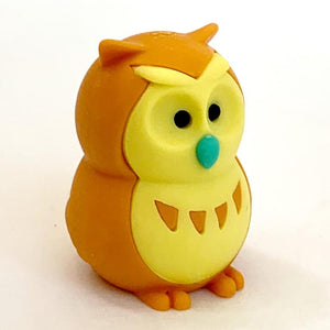 380065 IWAKO OWL ERASERS-ORANGE-1 eraser