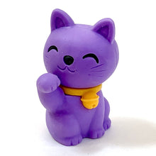 Load image into Gallery viewer, 380142 IWAKO MANEKI WELCOME CAT ERASER-6 erasers