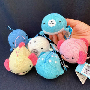 63052 KNITTED WHALE WOOPER LOOPER CHARM -6 assorted pieces