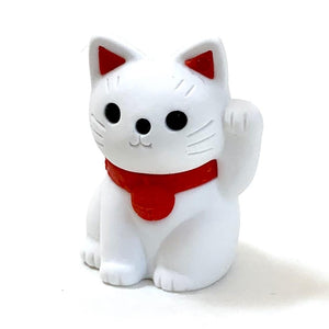 380142 IWAKO MANEKI WELCOME CAT ERASER-6 erasers