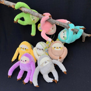 63045 SLOTH PLUSH-8 assorted colors