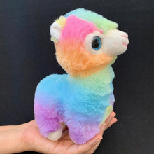 Load image into Gallery viewer, 63215 RAINBOW LLAMA PLUSH TOY-5 assorted pieces