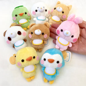 63023 Baby Animal with Bibs Plush Key Charms-8 assorted animals