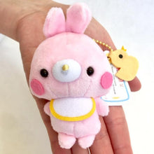 Load image into Gallery viewer, 63023 Baby Animal with Bibs Plush Key Charms-8 assorted animals
