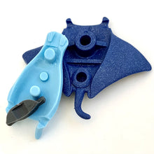 Load image into Gallery viewer, 382504 IWAKO STINGRAY MANTA ERASER-BLUE-1 eraser