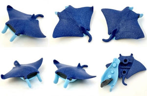 382504 IWAKO STINGRAY MANTA ERASER-BLUE-1 eraser