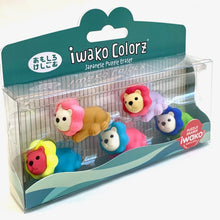 Load image into Gallery viewer, 384581 Iwako Colorz Lion -1 box of 5 erasers