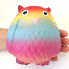 Load image into Gallery viewer, 832471 RAINBOW OWL SQUISHY-4.75 inch-slowrise soft-1 piece
