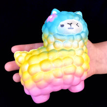 Load image into Gallery viewer, 832381 RAINBOW LLAMA SQUISH-soft slowrise-1 piece