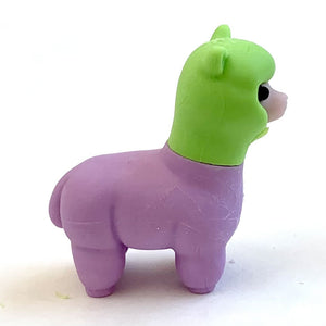 384611 Iwako Colorz Llama Erasers-1 box of 5 erasers