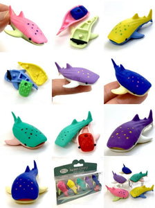 384561 Iwako Colorz Whale Sharks-1 box of 5 Erasers