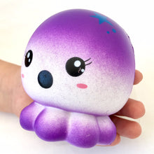 Load image into Gallery viewer, 832661 PURPLE OCTOPUS SQUISHY-slow rise-4 inch-1 piece