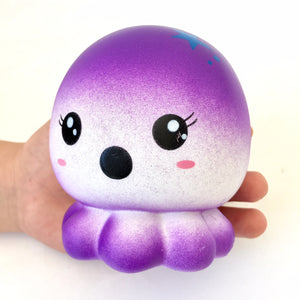832661 PURPLE OCTOPUS SQUISHY-slow rise-4 inch-1 piece